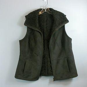 Talbots Jackets & Coats - Talbots faux suede Vest size Large
